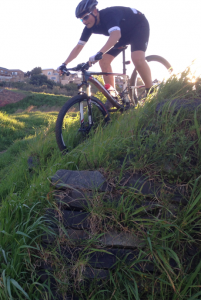 Mountain Bike Steep Descent