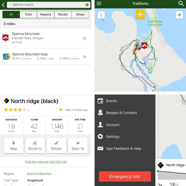 Trailforks App for solo riding navigation