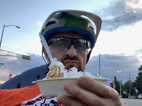 Instructor Matt Brooks Post Ride Snack
